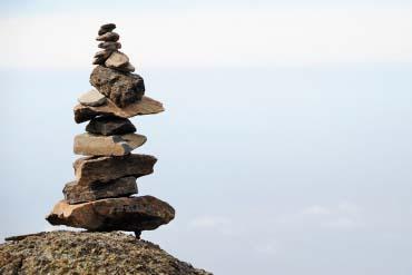 Stones on Mount Meru