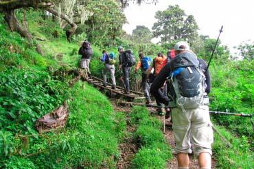 Hiking up Mount Meru