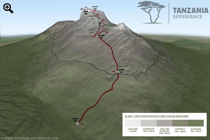 Kilimanjaro Marangu Karte