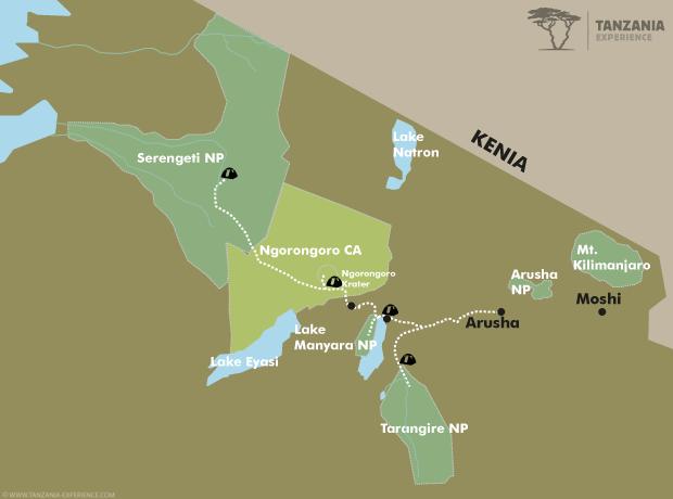 Der Ruf der Wildnis Karte