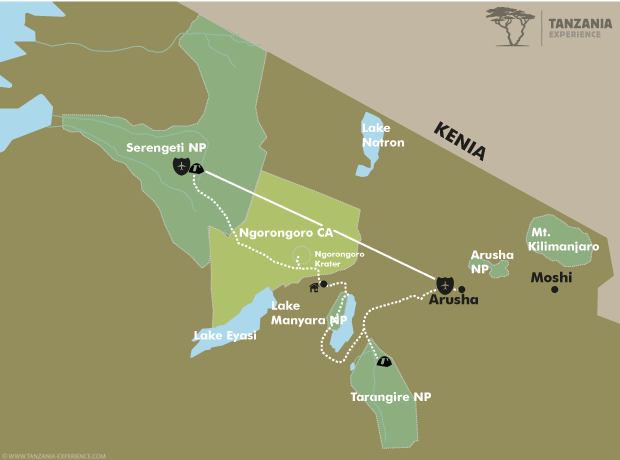 Erholung im Busch Karte