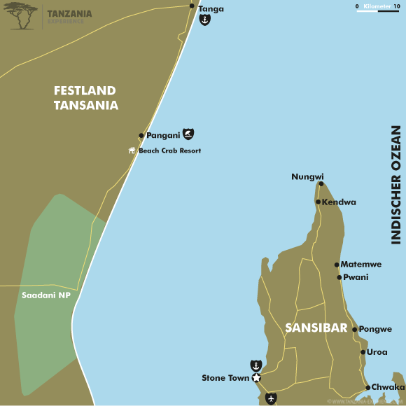 Karte Festland