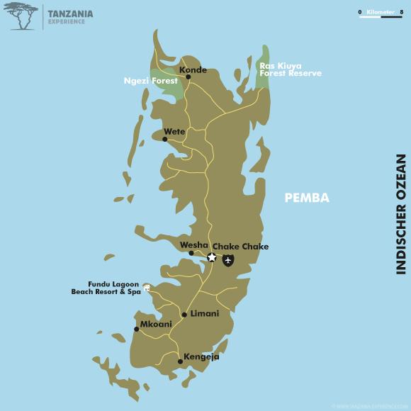Karte Pemba