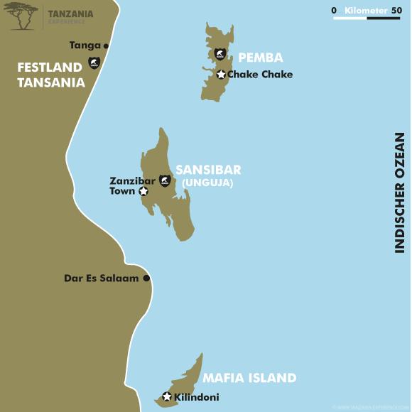 Swahili Kueste Karte