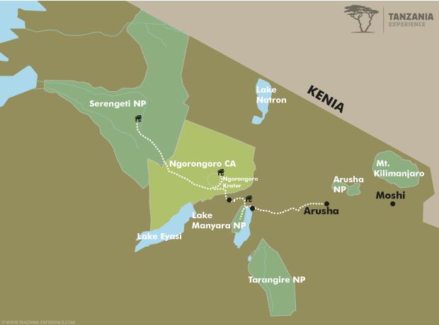 Tansania klassisch Karte