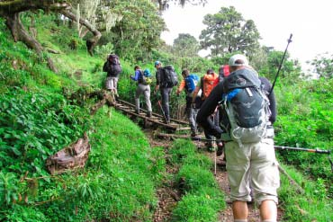 Hiking up Mount Meru