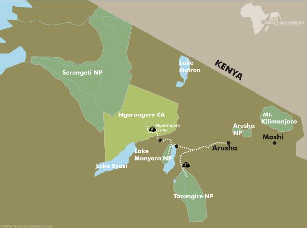 Fascination Tanzania map