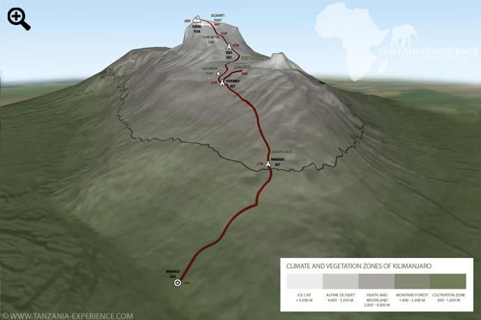 Kilimanjaro Marangu map