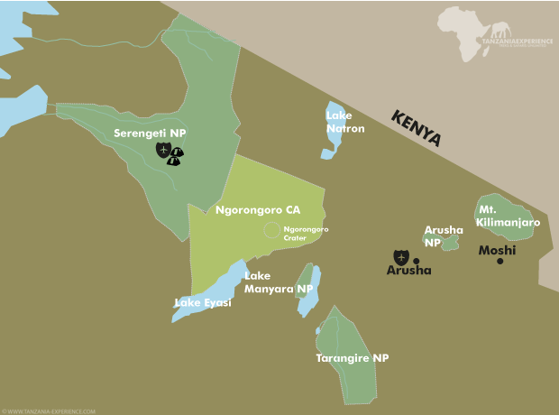Serengeti Mobile Explorer Camp map