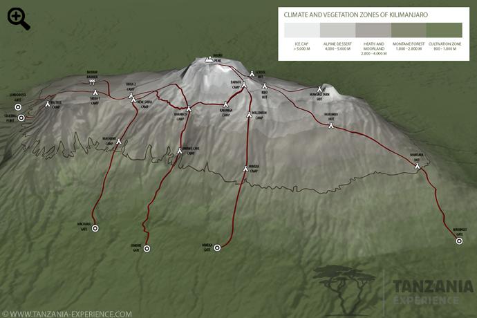 Kilimanjaro-routes-map