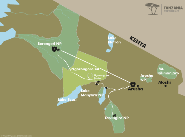 Tanzania in Style map