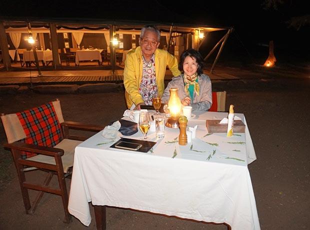 Mr & Mrs Takeuchi dinner at lodge