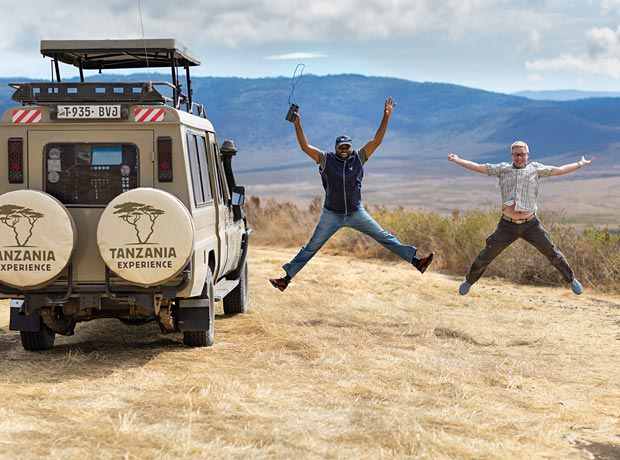 Happy people on Safari